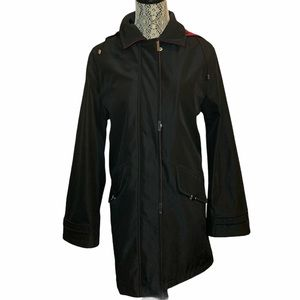 London Fog Hooded Trench Coat Size Large